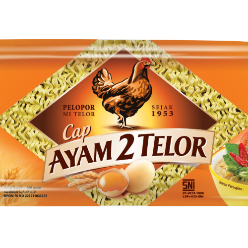 TPS Food: Mie Ayam 2 Telor (MA2T Quick Cooking Noodles) 200g Packaging