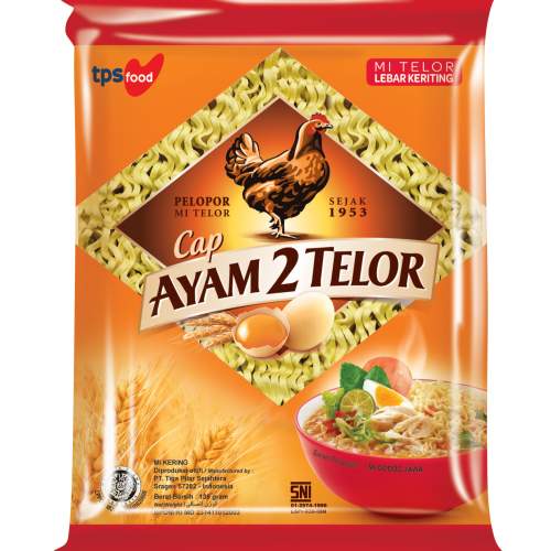 TPS Food – Mie Ayam 2 Telor (MA2T Quick Cooking Noodles) 670g Packaging
