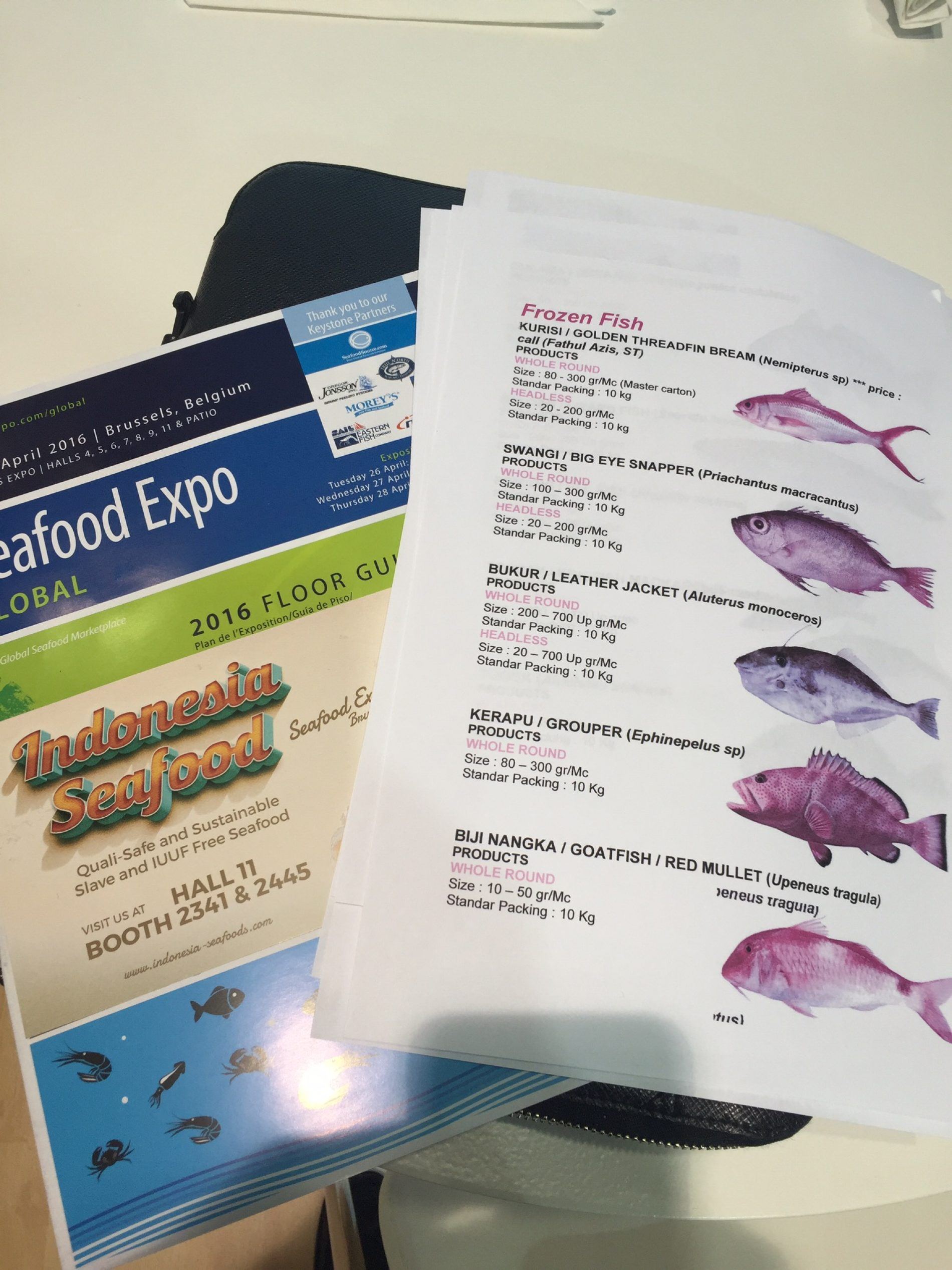 SEAFOOD EXPO 2016 – Brussels, Belgium
