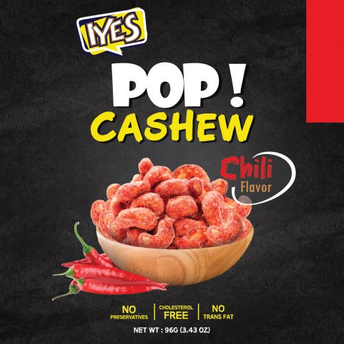 IYES Pop! Cashew – Wasabi – Salted Caramel – Chilli – Black Pepper